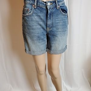 Free People Ivy Long Jean Shorts in a size 24.